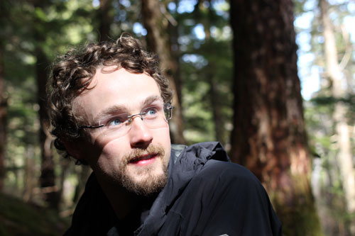 Patrick Courtnage in Temperate Rainforest of Southeast Alaska