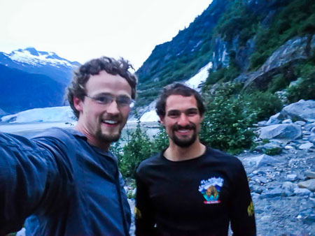 Patrick and Eric in Juneau Alaska at Nugget Falls