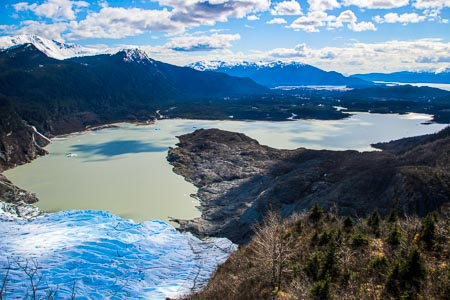 West Glacier Trail looking at Mendenhall Lake
