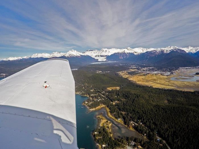 Landing For The First Time In Juneau, Alaska