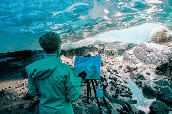 Ice Cave Paint