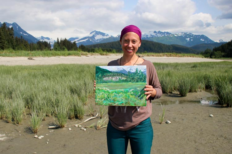 Painting at Eagle Beach – Discussion on Juneau Afternoon Radio