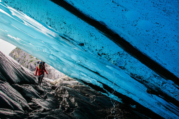 Glaciers and Ice Caves in Southeast Alaska